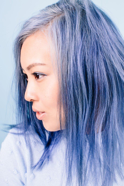 pastelové modré barvy vlasy