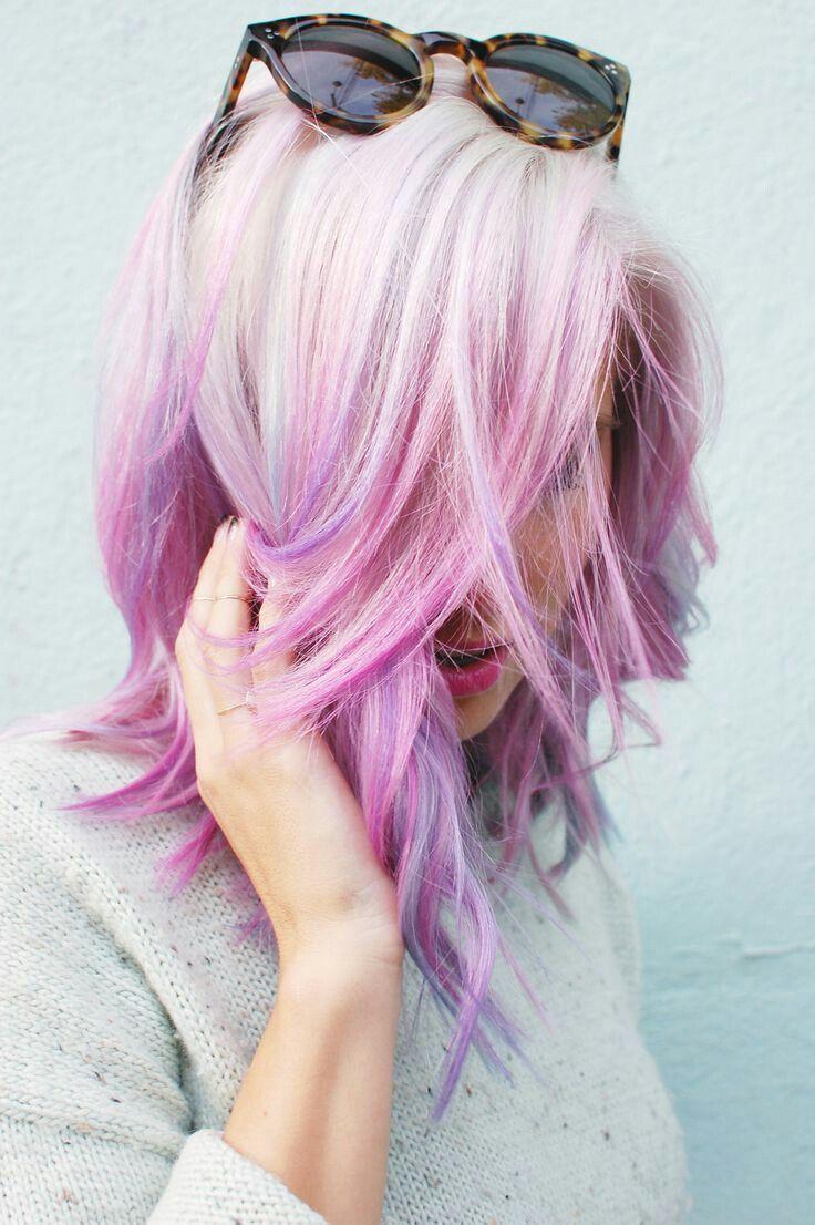 pastelové vlasy účesy inspirace