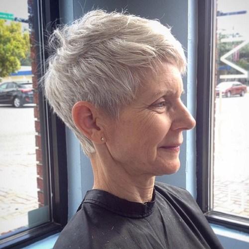 short hairstyles older women pixie
